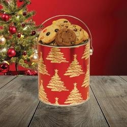 Red Trees Gallon Tin of Cookies