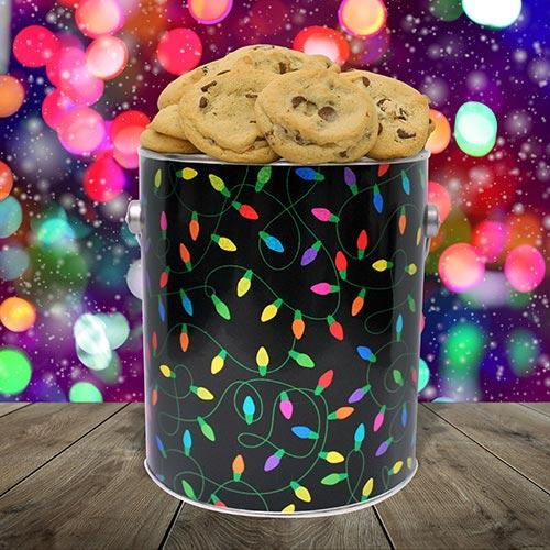 Electrical lights holiday lights cookie tin