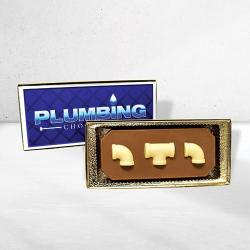 Plumbing chocolate bar gift box