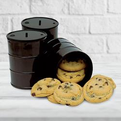 Oil Drum filled with Cookies