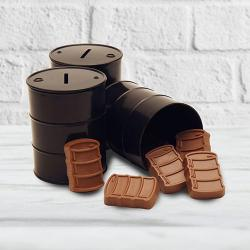 Oil Drum filled with Chocolate barrels