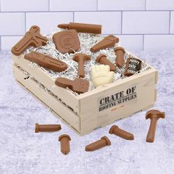 Roofing Crate of Chocolate Tools and Roofing Supplies