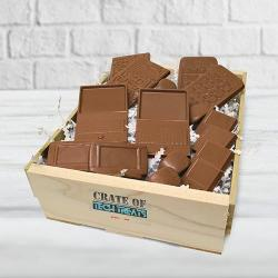 Techie chocolate gift basket