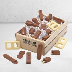 Electrician Wooden Basket of Chocolate electrical tools