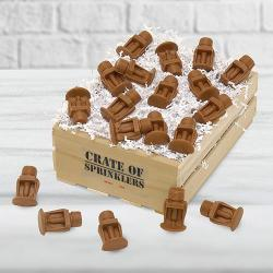 Crate of Chocolate Sprinkler Heads