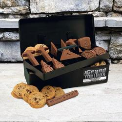 Architect Toolbox with Cookies and Chocolate architectural and drafting tools