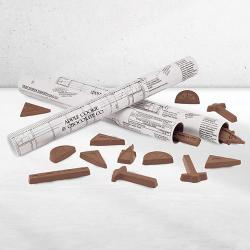 Architect Plan filled with Chocolate architectural and drafting tools