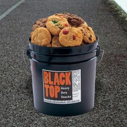 Black Top Tub of Cookies