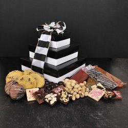 Elegant Black and White Gift Tower