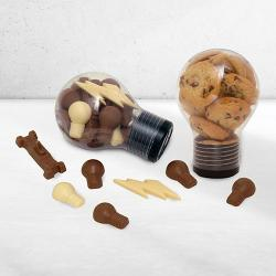 Giant Light Bulb Combo of Cookies & Chocolate light bulbs