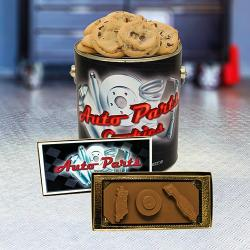 Auto Parts Cookie Tin & automotive chocolate ChocoCard