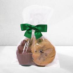 Personalized Birthday favor cookie and chocolate cupcake