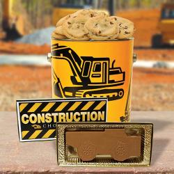 Construction Cookie tin & Chocolate construction truck