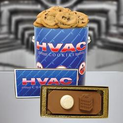 HVAC Cookie Tin & Hvac Chocolate bar Combo