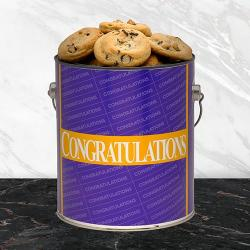 Congratulations cookie gift tin