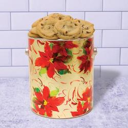 Christmas Poinsettia Gallon of Cookies