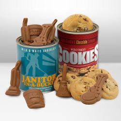 Janitor in a Bucket Combo cookies and janitorial chocolates