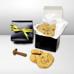 Construction gift box of cookies and chocolate tools