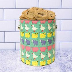Baby animal cookie gift tin
