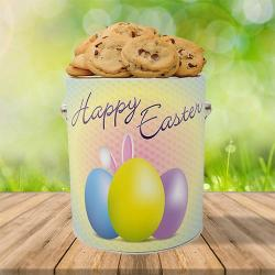Easter gallon cookie gift tin