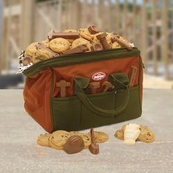 Tool bag gift filled with Cookies and Chocolate tools