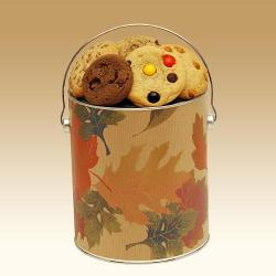 Autumn Leaves Cookie Tin