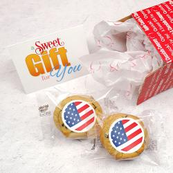 Patriotic flag cookie gram care package