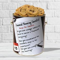 Financial Planning Cookie Tin