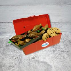 Cookie and Chocolate Filled Tackle Box Father's Day Gift