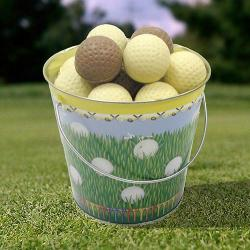 Bucket of Chocolate Golf Balls