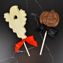 Ghost and Jack o lantern chocolate Halloween party favor