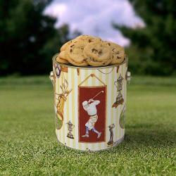 Golf Gallon Tin of Cookies