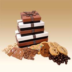 Gourmet Three Stack Gift Tower of Treats