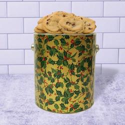 Holly Cookie Gift Gallon TIn