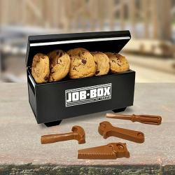 Job box filled with Cookies and Chocolate tools