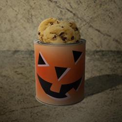 Halloween Jack o' Lantern Gallon Tin of Cookies