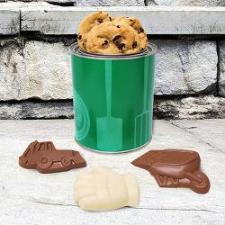 Landscaping gift tin of cookies and landscaping chocolate