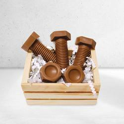 Gift basket of Chocolate Fasteners