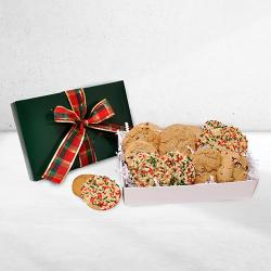 Gourmet holiday cookie gift box
