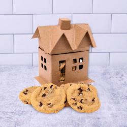 Mini House of Chocolate Chip Cookies