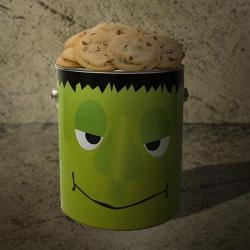 Halloween Monster Gallon Tin of Cookies