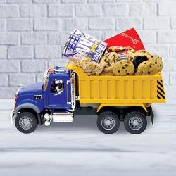 Mack Truck filled with Cookie and Chocolate