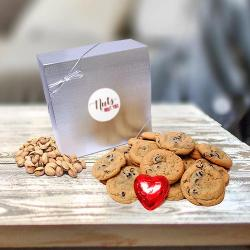 Nuts About You Gift Box of cookies chocolate hearts and nuts