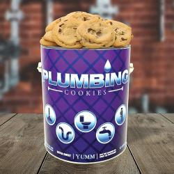 Plumbing Gallon Tin of Cookies