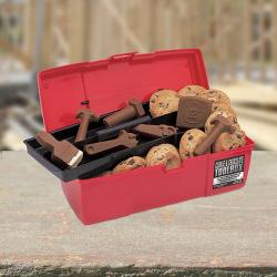 Plumber's Toolbox filled Cookies & Chocolate Plumbing Supplies