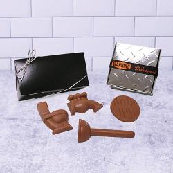 Plumbers gift box of plumbing chocolate