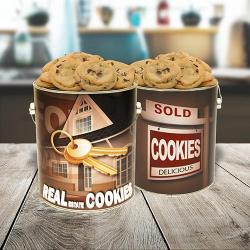 Real Estate Gallon Tin of Cookies