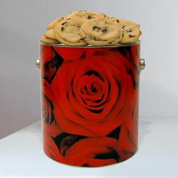 Rose Cookie Valentine's Day Gift Tin