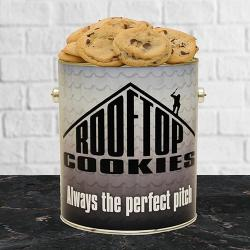 Roof Top Gallon Tin of Cookies