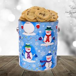 Snowman Cookie Gift Gallon
